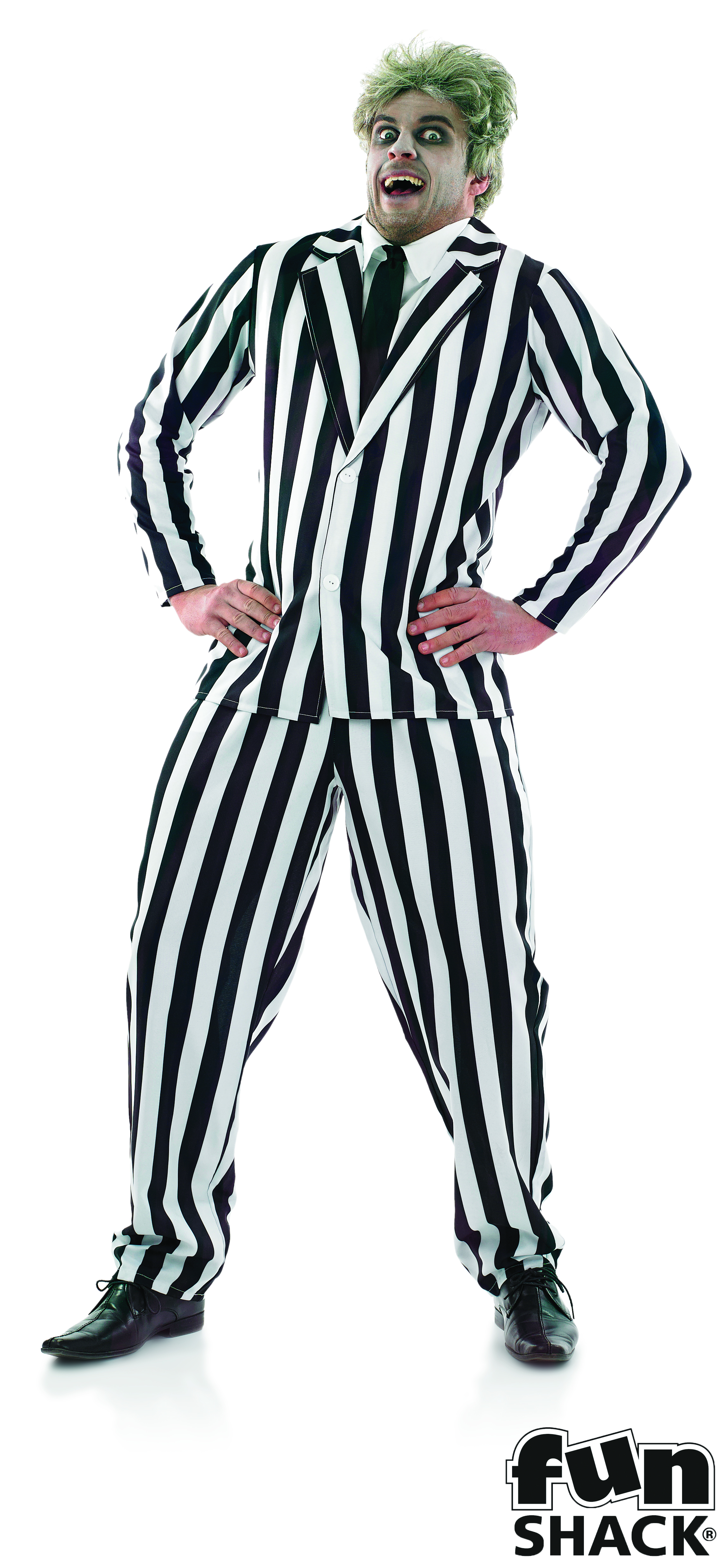 Black and white striped suit adult 3940 Fun shack