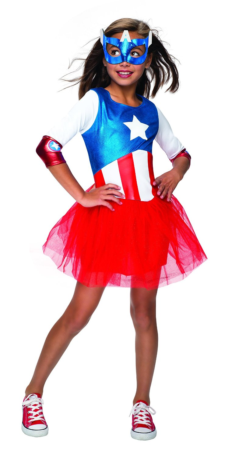 Metallic Captain America girls 620035