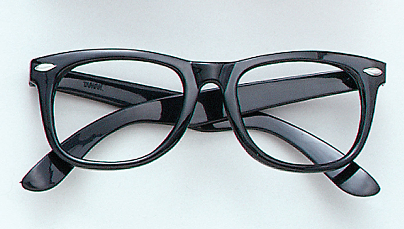Black Frame Glasses Images : Fancy Dress Factory.... BA182 - Black frame glasses BA182