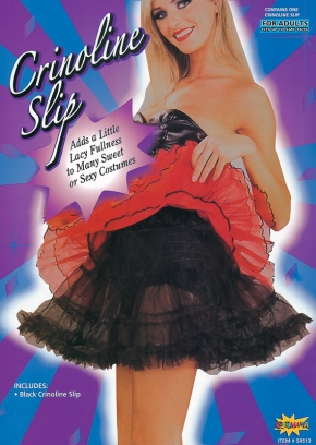 Adult black underskirt AC567B
