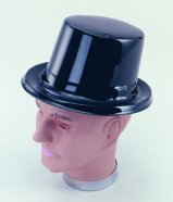 Black plastic top hat BH070