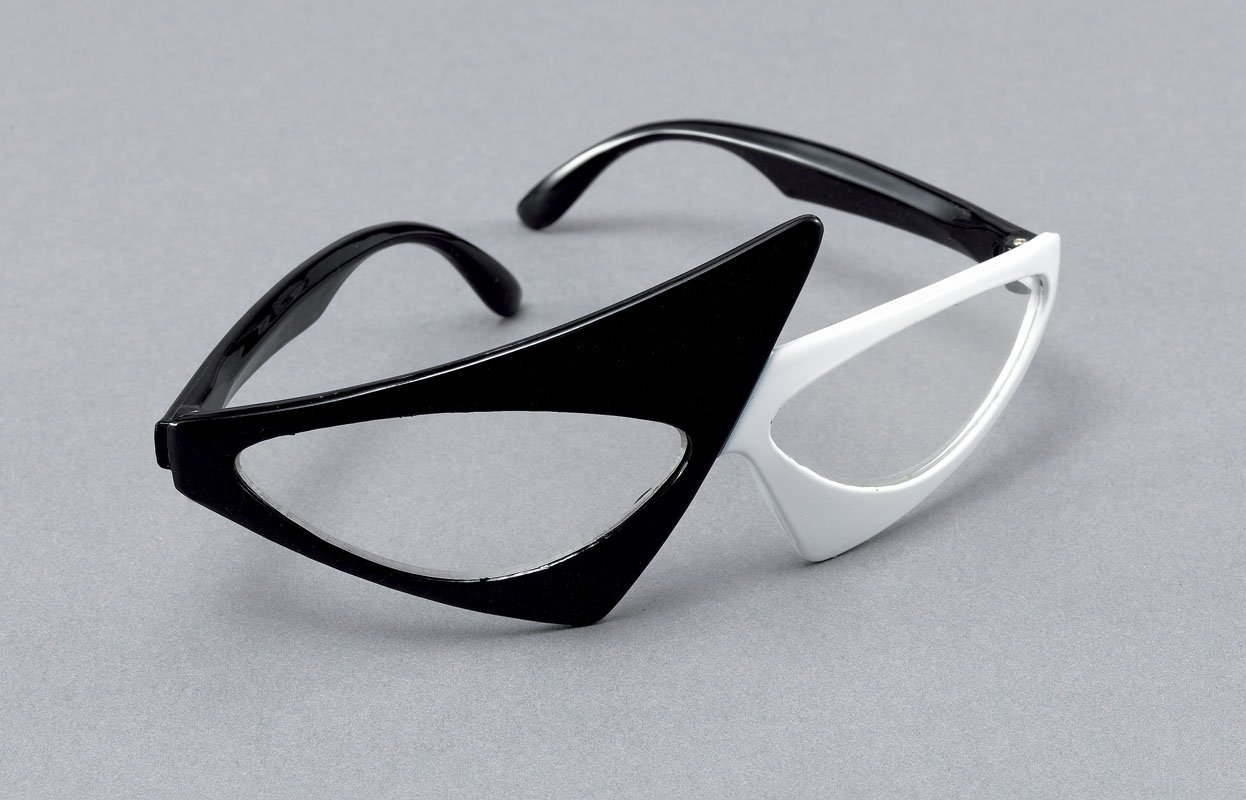 Black/white rock star glasses BA1046