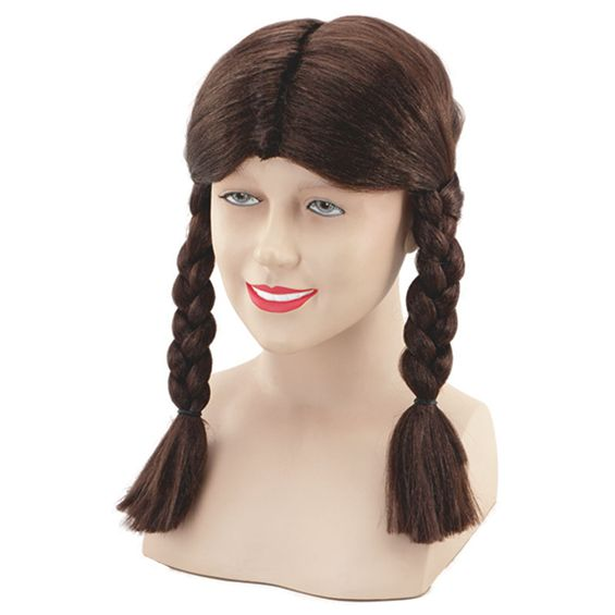 Brown pigtail wig BW318