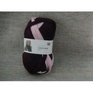 Rico Can Can wool pink purple mix 011