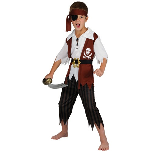 Cut throat pirate costume boys EB-4025
