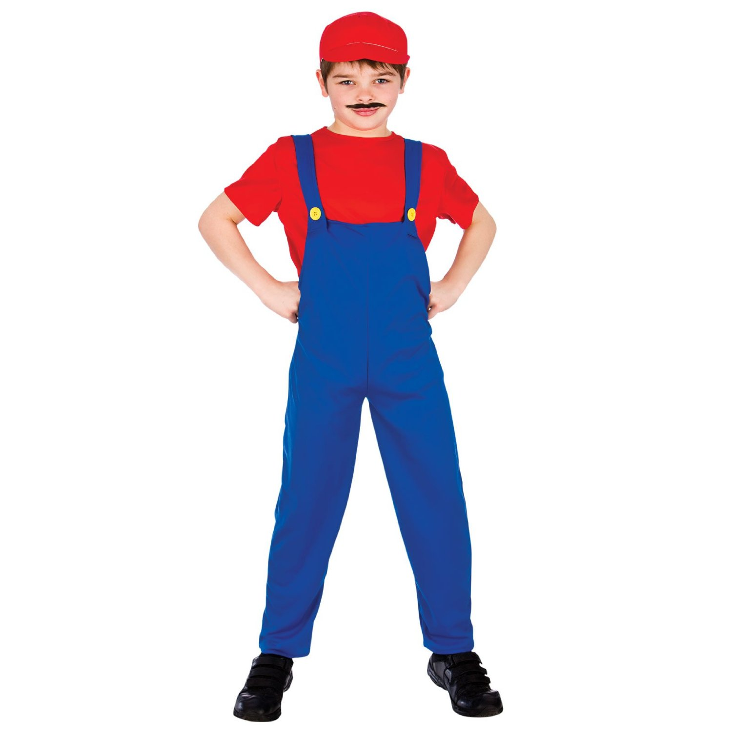 Child Red Funny Plumber costume eb4075