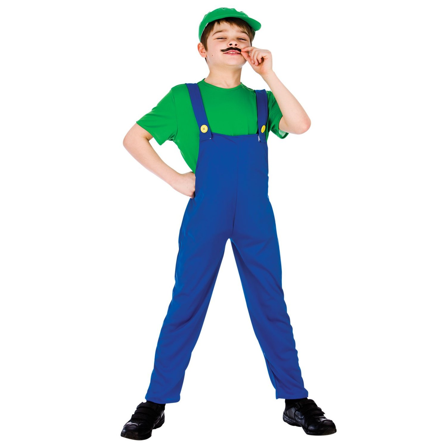 Green funny plumber costume child eb4076