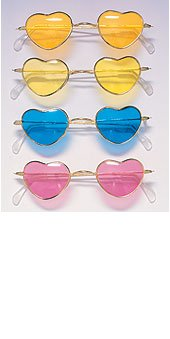 70&#39s love heart glasses 1762