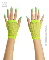 Green neon fingerless gloves (short)