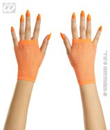 Orange neon fingerless gloves (short)