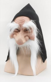GM232 Gnome mask with hood (white)