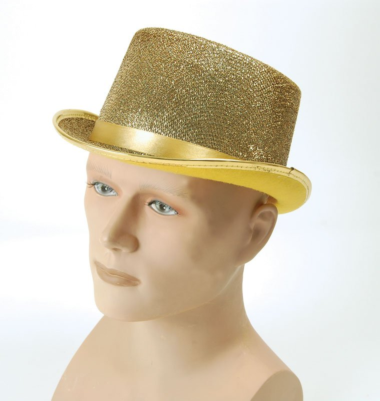 Gold lurex top hat BH467