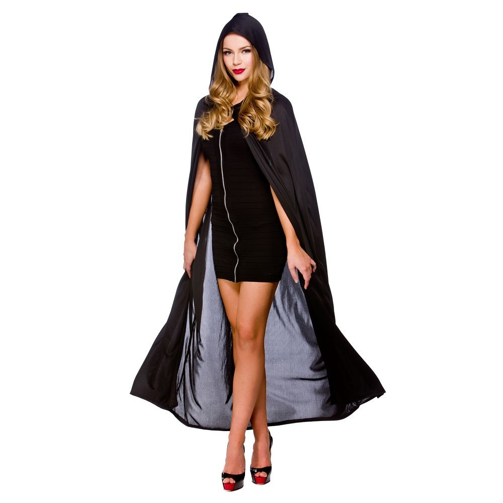 Black hooded cape wicked hf5094