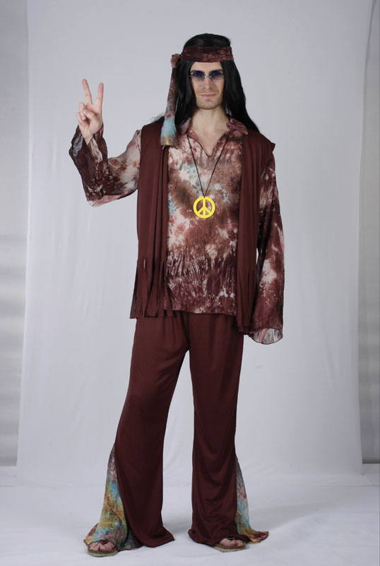 60's Tie Dye male hippy  costume AC881