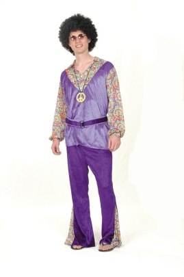 60's Hippy Man purple velvet AC682