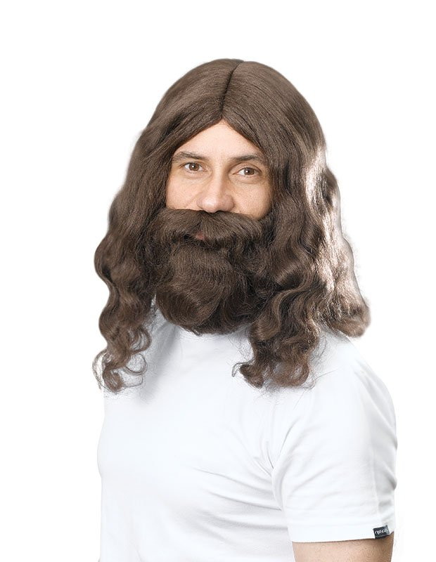 Jesus wig and beard BW581