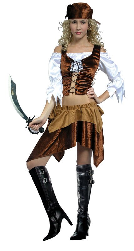 Pirate Wench costume  Brown AC792