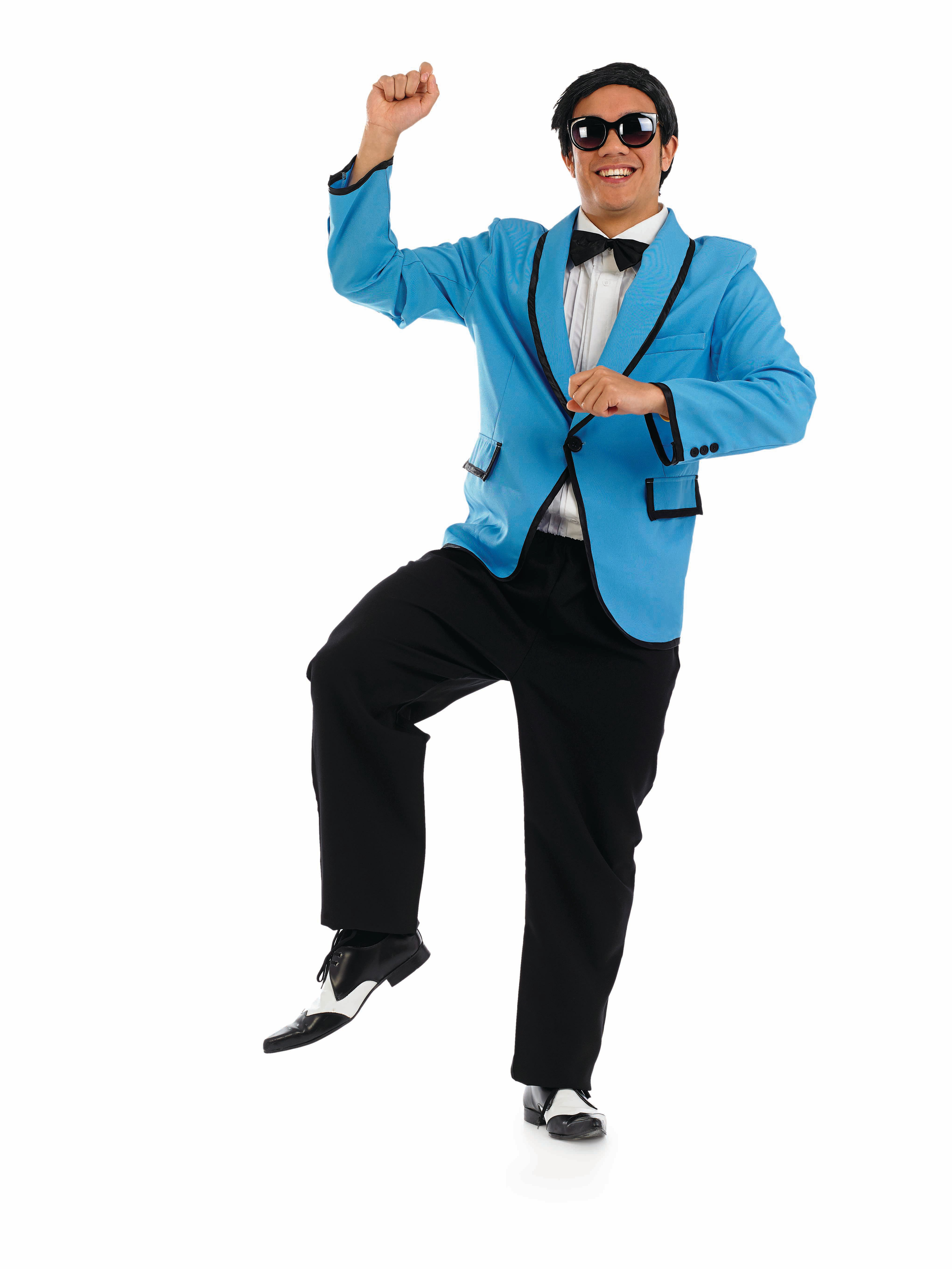 Adult Psy Korean dance craze costume.3573