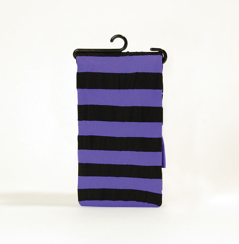Purple/black striped tight BA473