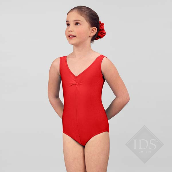 Red lycra  vest leotard Q2a-00