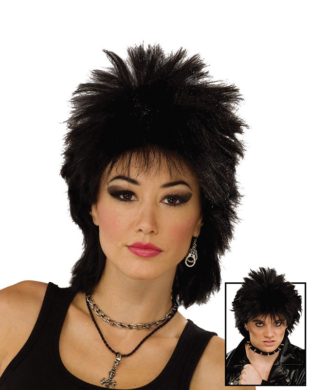 80's black rock idol wig BW691