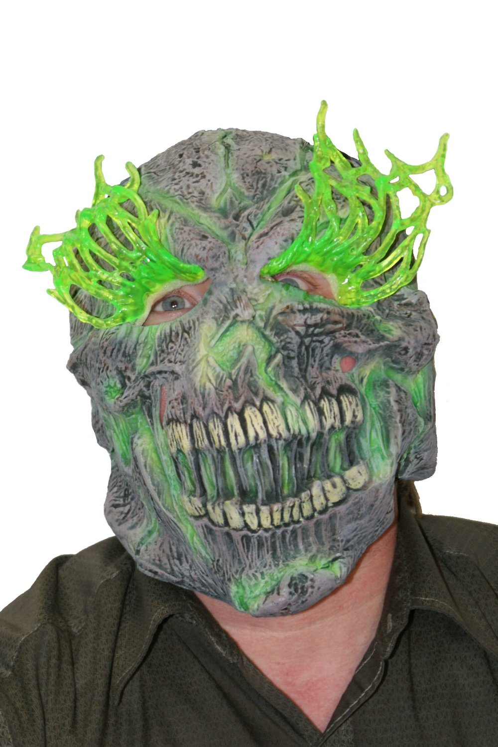 3225 Adult latex light up skull/ skeleton mask