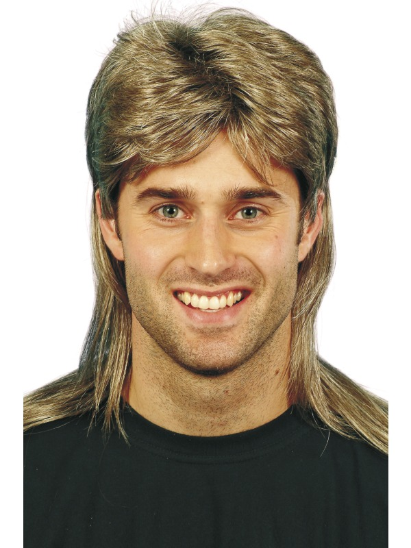 Jason Wig Brown and Blonde, Mullet  wig ef-24842