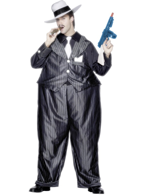 Fat Cat Gangster Costume adult ef-25779 (smiffys)