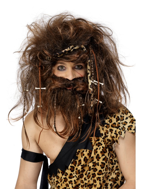 Caveman Set wig and beard ef-31734