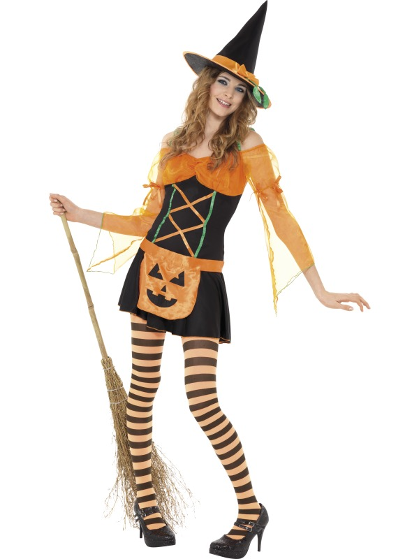 Teen Pumpkin Witch Costume