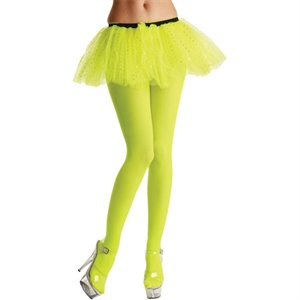 Neon yellow adult tights TS7025