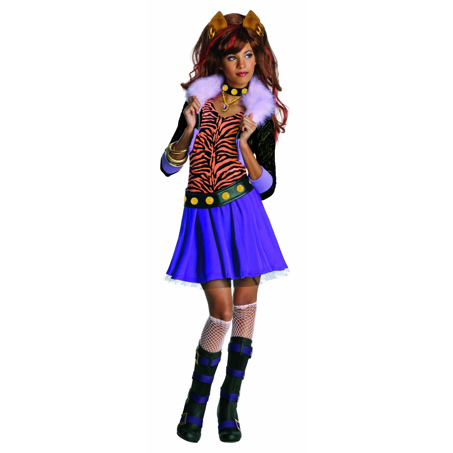 Fancy Dress Factory Girls Animal Costumes Kostum Bee N Bug Monster High Clawdeen Wolf Costume 884788